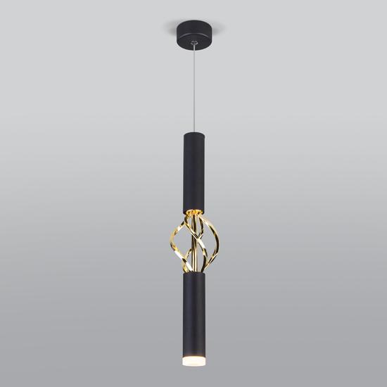 Фото №2 Подвесной светодиодный светильник 50191/1 LED черный/золото