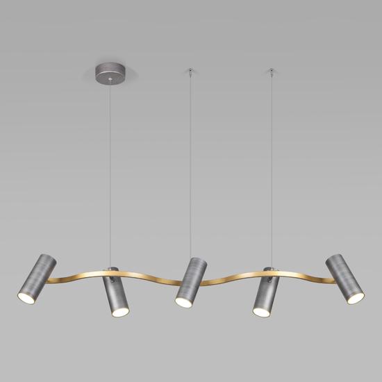 Фото №2 Подвесной светодиодный светильник 90103/5 матовый серый/золото