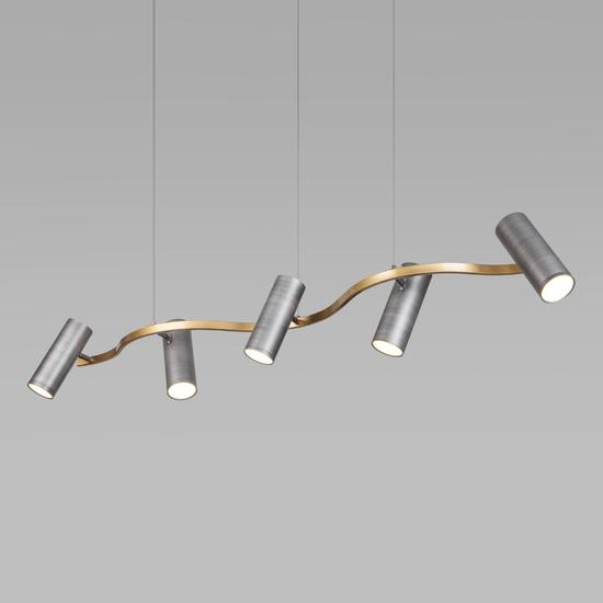 Фото №3 Подвесной светодиодный светильник 90103/5 матовый серый/золото