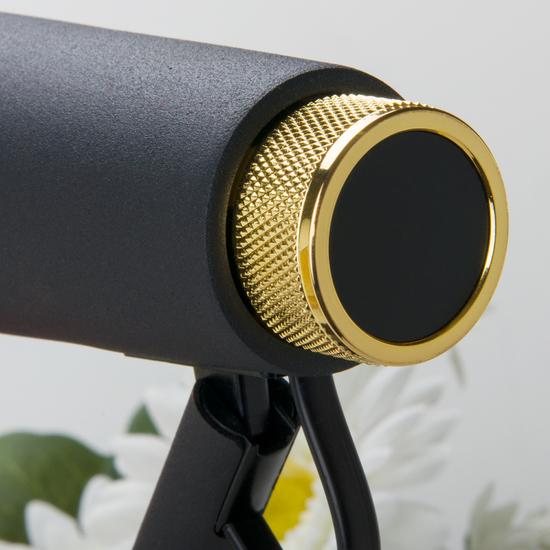 Фото №5 Светодиодный настольный светильник Joel черный/золото (TL70190)