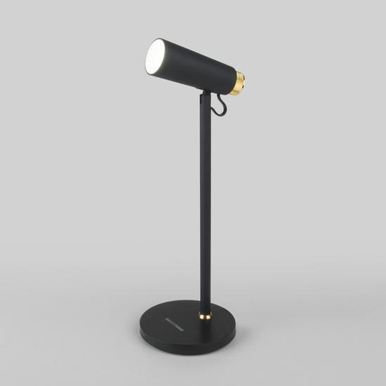 Фото №6 Светодиодный настольный светильник Joel черный/золото (TL70190)
