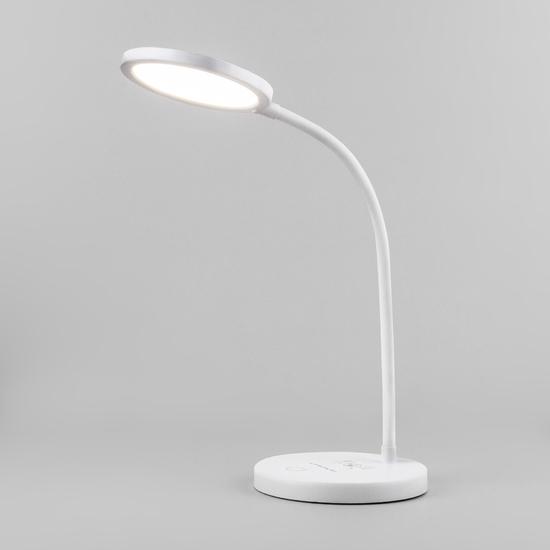 Фото №2 Светодиодная настольная лампа с беспроводной зарядкой QI Tiara белый (TL90560)