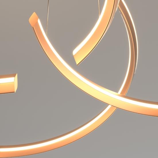 Фото №8 Светодиодная люстра с управлением по Wi-Fi 90280/3 золото