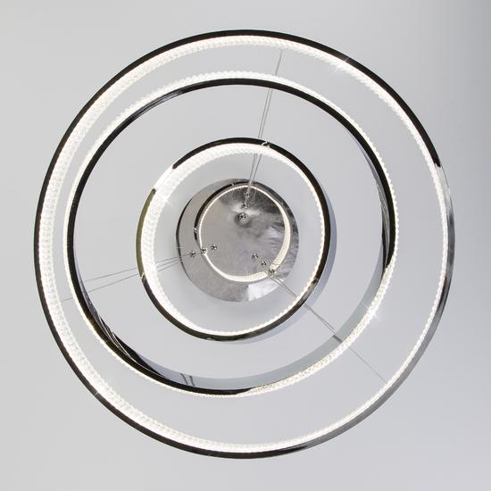 Фото №6 Светодиодная люстра с управлением по Wi-Fi 90276/3 хром