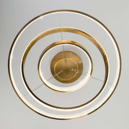 Фото №8 Светодиодная люстра с управлением по Wi-Fi 90276/3 медный