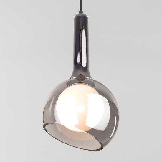 Фото №2 Подвесной светильник со стеклянным плафоном 50188/1 дымчатый