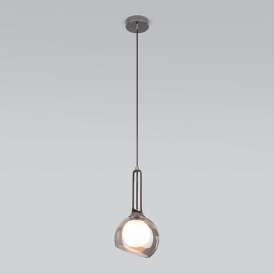 Фото №3 Подвесной светильник со стеклянным плафоном 50188/1 дымчатый