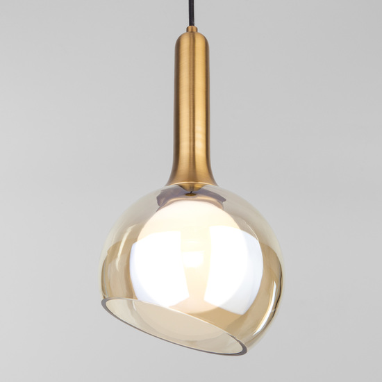 Фото №2 Подвесной светильник со стеклянным плафоном 50188/1 янтарный