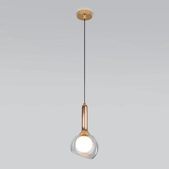 Фото №3 Подвесной светильник со стеклянным плафоном 50188/1 золото