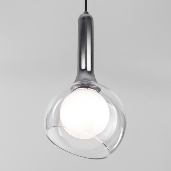 Фото №2 Подвесной светильник со стеклянным плафоном 50188/1 хром