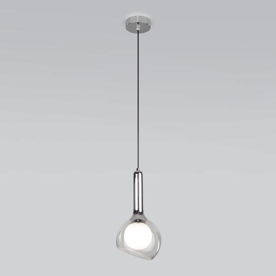 Фото №3 Подвесной светильник со стеклянным плафоном 50188/1 хром