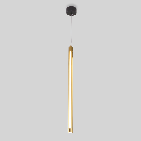 Фото №2 Подвесной светодиодный светильник 50189/1 LED черный/золото