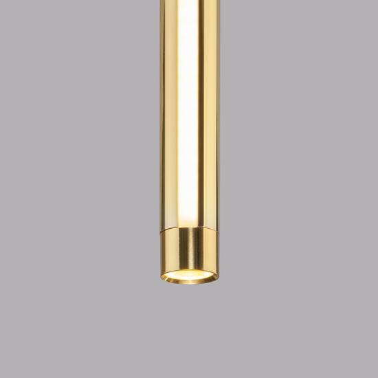 Фото №3 Подвесной светодиодный светильник 50189/1 LED черный/золото