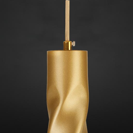 Фото №5 Подвесной светодиодный светильник 50136/1 LED золото