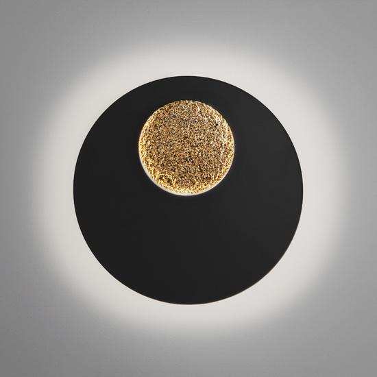 Фото №3 Настенный светодиодный светильник 40150/1 LED черный /золото