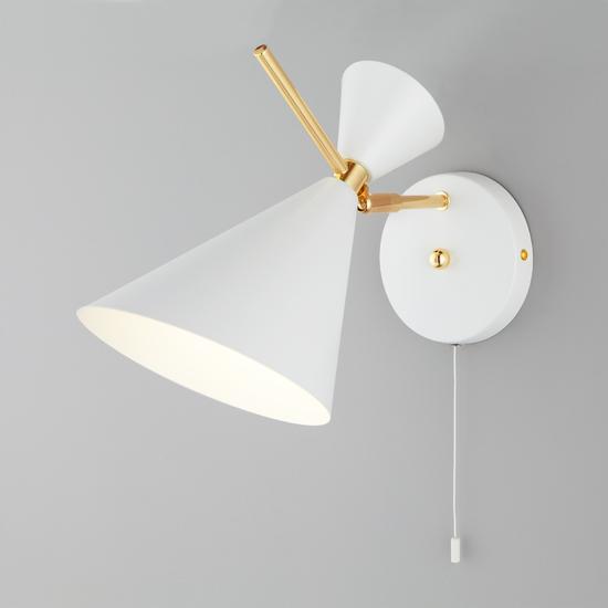 Фото №2 Настенный светильник с металлическим абажуром 70114/1 белый