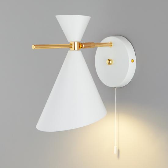 Фото №3 Настенный светильник с металлическим абажуром 70114/1 белый