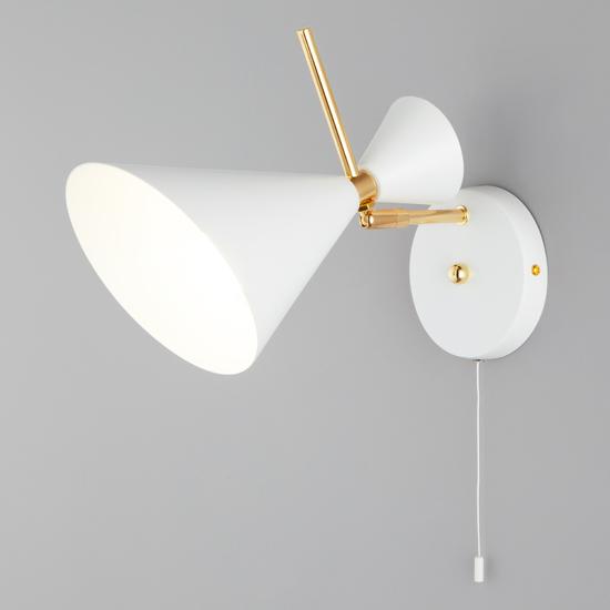 Фото №4 Настенный светильник с металлическим абажуром 70114/1 белый