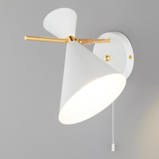 Фото №5 Настенный светильник с металлическим абажуром 70114/1 белый