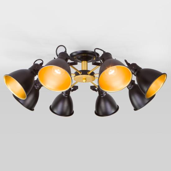 Фото №2 Потолочная люстра с поворотными рожками 70112/8 черный