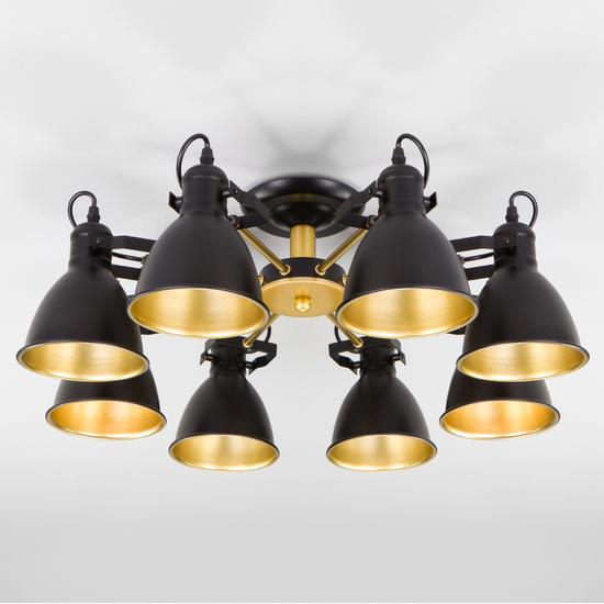 Фото №3 Потолочная люстра с поворотными рожками 70112/8 черный