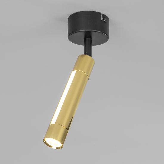 Фото №2 Настенно-потолочный светодиодный светильник 20084/1 LED черный/золото