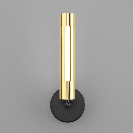 Фото №5 Настенно-потолочный светодиодный светильник 20084/1 LED черный/золото