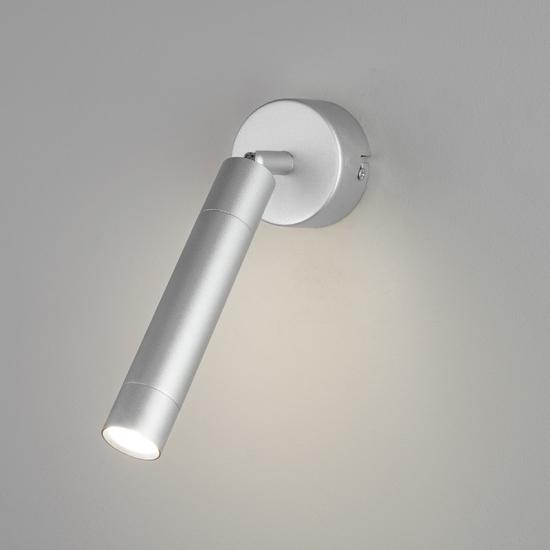 Фото №3 Настенно-потолочный светодиодный светильник 20084/1 LED серебро