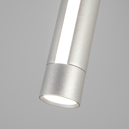 Фото №4 Настенно-потолочный светодиодный светильник 20084/1 LED серебро