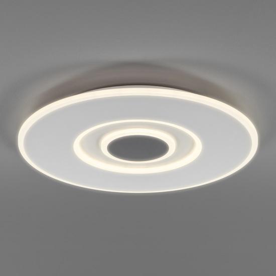 Фото №2 Потолочный светодиодный светильник с ПДУ 90219/1 белый/ серый