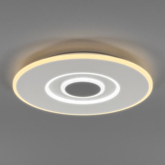 Фото №3 Потолочный светодиодный светильник с ПДУ 90219/1 белый/ серый