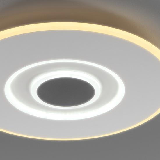 Фото №6 Потолочный светодиодный светильник с ПДУ 90219/1 белый/ серый