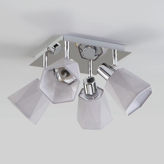Фото №9 Потолочный светильник с поворотными абажурами 20087/4 хром/серый