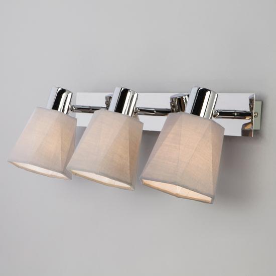Фото №2 Настенный светильник с поворотными абажурами 20087/3 хром/серый