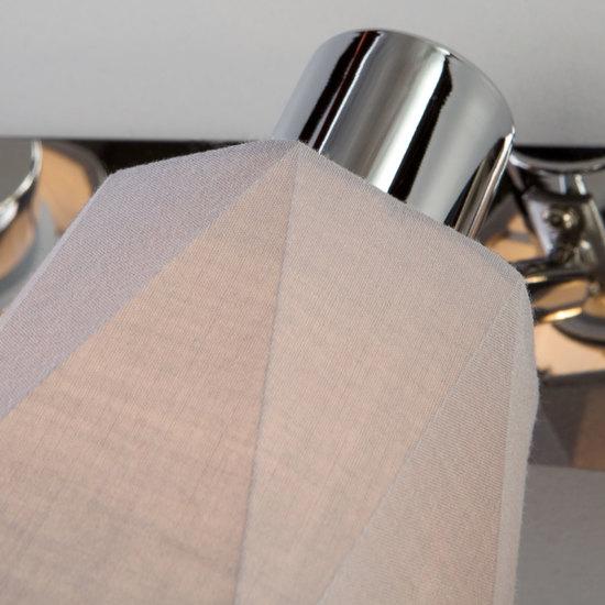 Фото №5 Настенный светильник с поворотными абажурами 20087/3 хром/серый