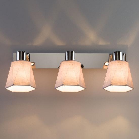 Фото №7 Настенный светильник с поворотными абажурами 20087/3 хром/серый