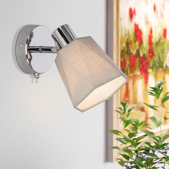 Фото №3 Настенный светильник с выключателем 20087/1 хром/серый