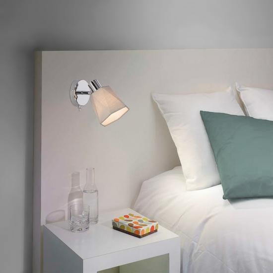 Фото №4 Настенный светильник с выключателем 20087/1 хром/серый