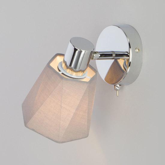 Фото №6 Настенный светильник с выключателем 20087/1 хром/серый
