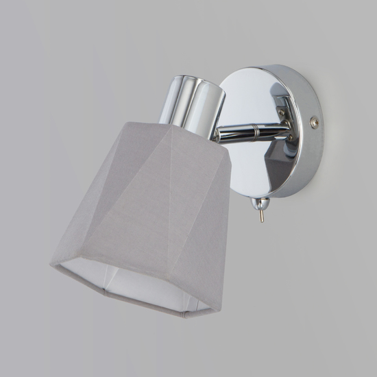 Фото №8 Настенный светильник с выключателем 20087/1 хром/серый