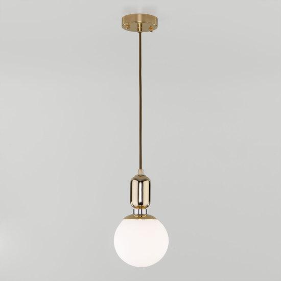Фото №3 Подвесной светильник со стеклянным плафоном 50151/1 золото
