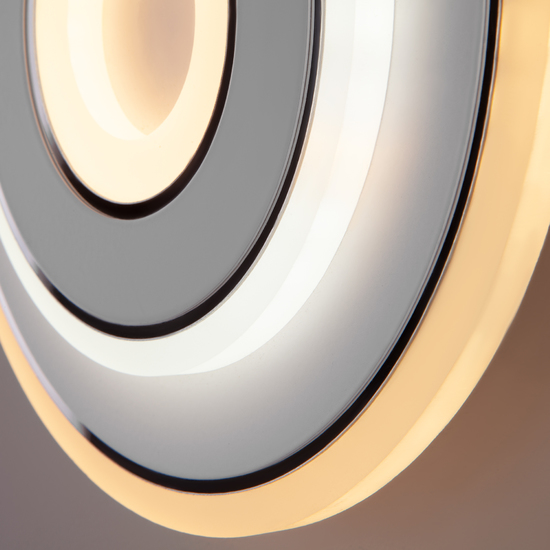 Фото №4 Настенный светодиодный светильник 90185/1 белый/хром