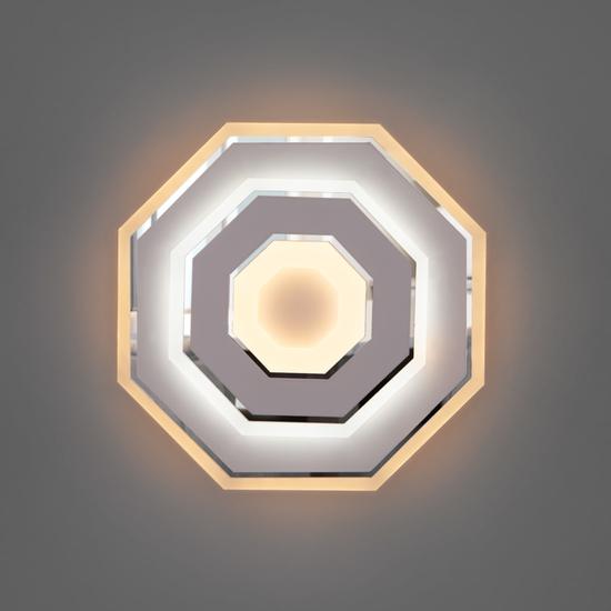 Фото №2 Настенный светодиодный светильник 90184/1 белый/хром