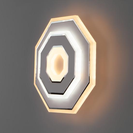 Фото №3 Настенный светодиодный светильник 90184/1 белый/хром