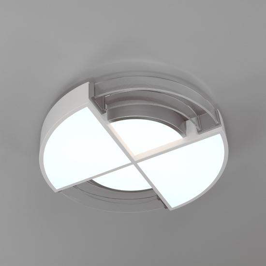 Фото №3 Потолочный светодиодный светильник с пультом управления 90181/1 белый/серебро