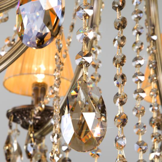 Фото №6 Хрустальная люстра с двойным вариантом крепления 315/8 Strotskis