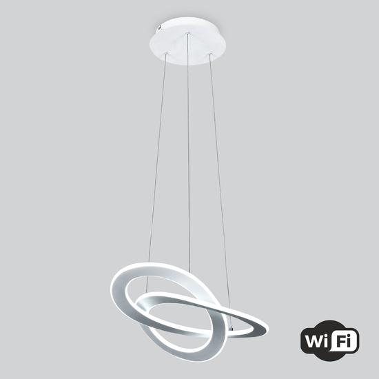 Фото №2 Светодиодная люстра с управлением по Wi-Fi 90217/1 белый