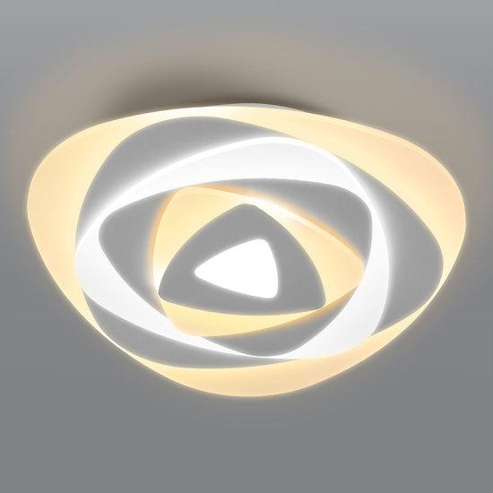 Фото №2 Светодиодный потолочный светильник с пультом управления 90212/1 белый