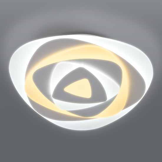 Фото №4 Светодиодный потолочный светильник с пультом управления 90212/1 белый