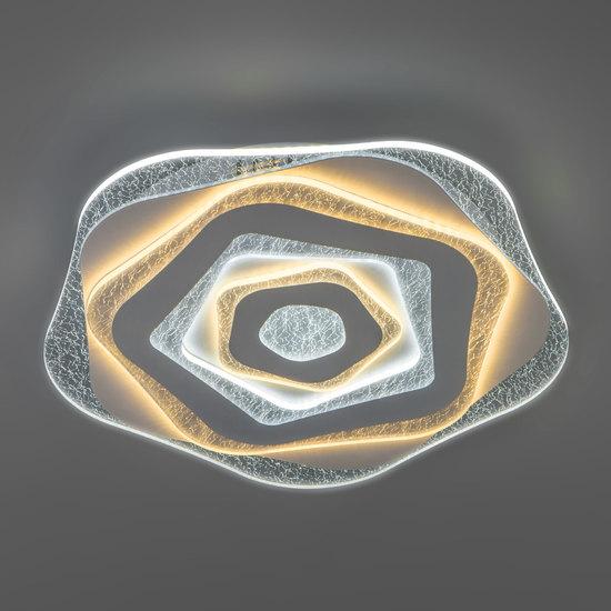 Фото №3 Потолочный светодиодный светильник с пультом управления 90210/1 белый